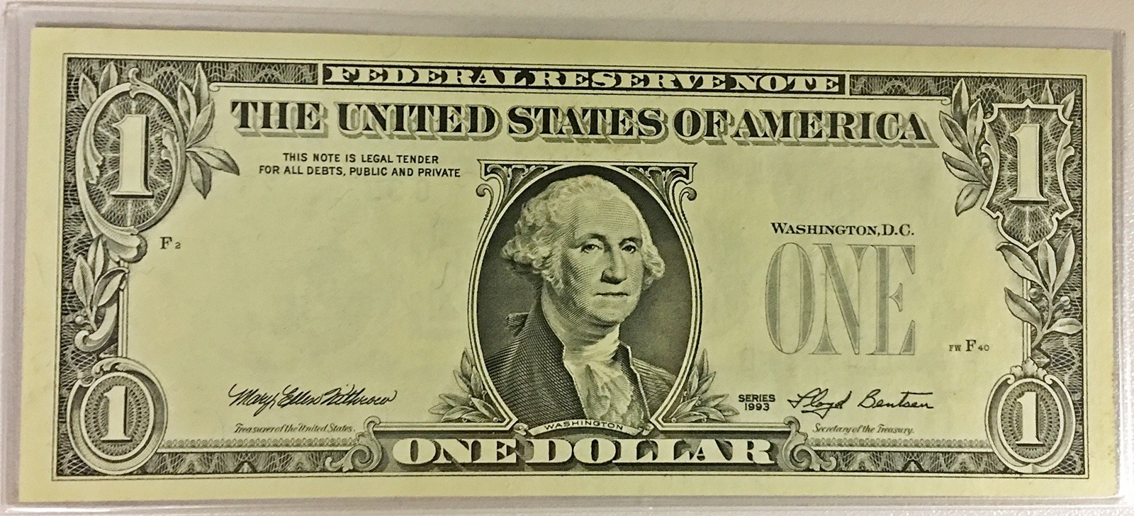 $1 Federal Reserve Note