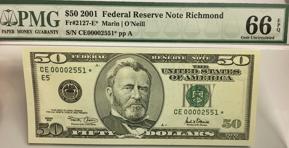 $50 Federal Reserve Note