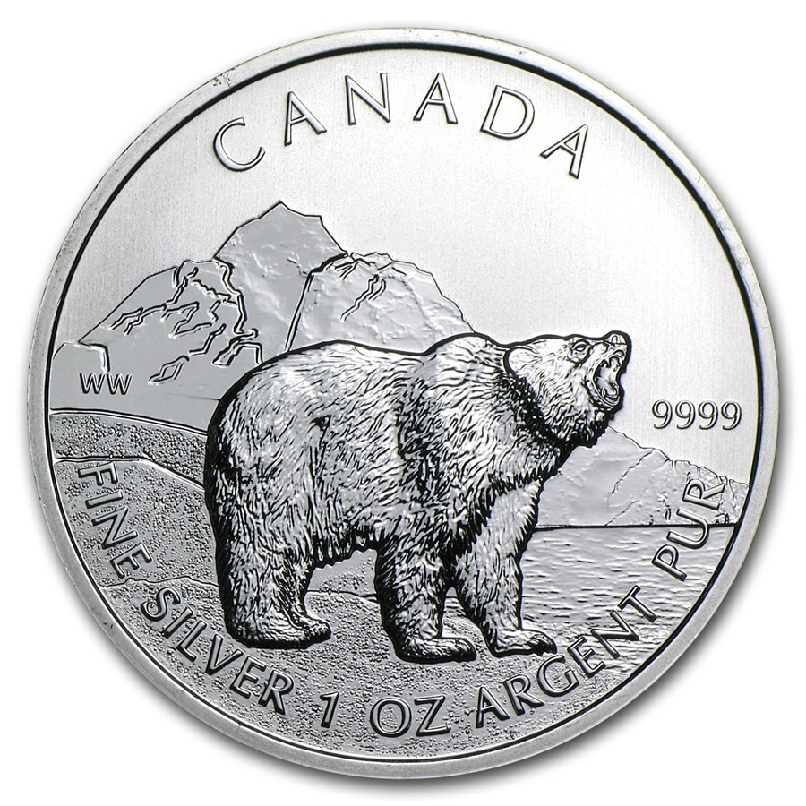 Silver Canada Grizzly Bears